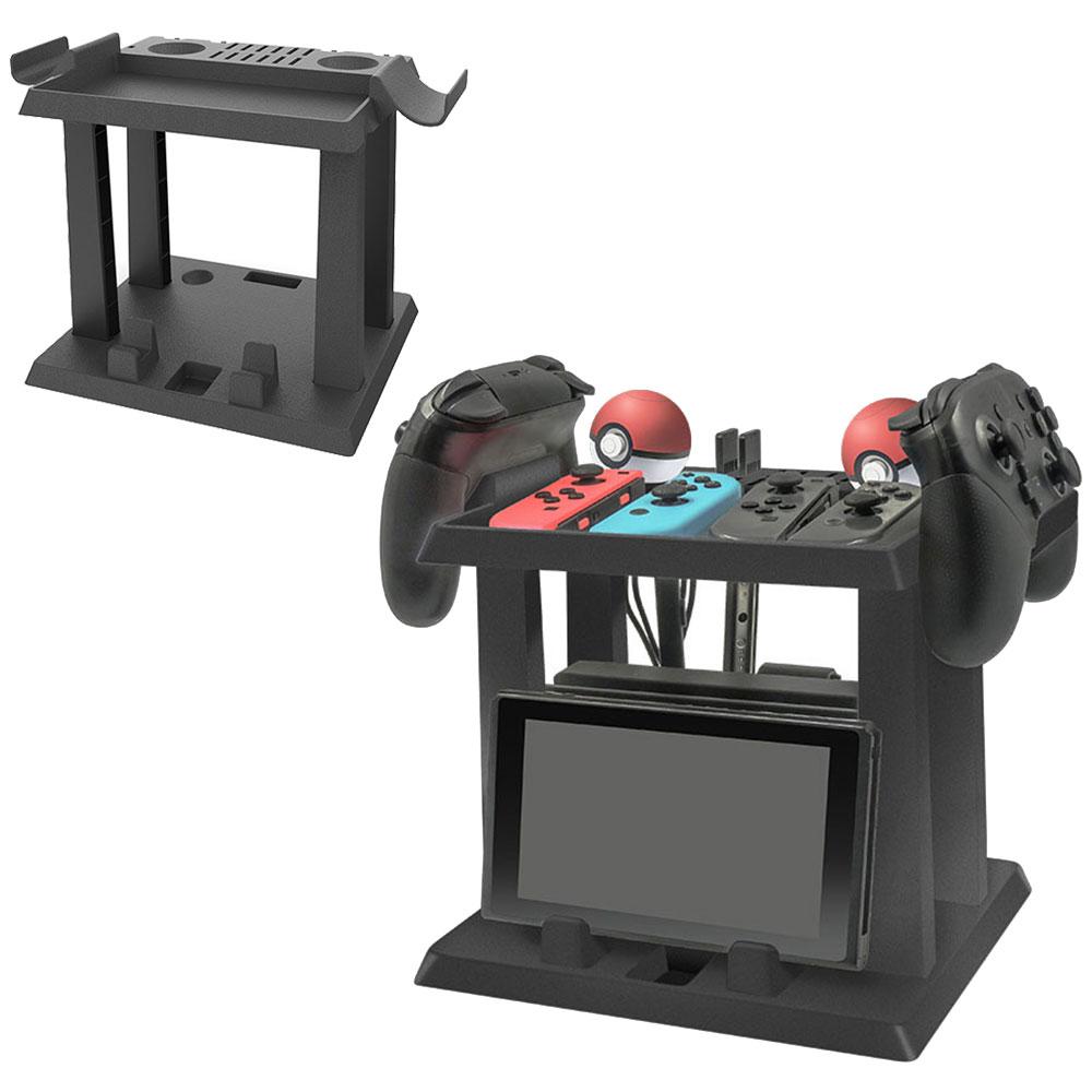 Nintendo Switch用 縦置き収納スタンド 周辺機器 ホルダー スイッチ本体 Joy-Con PROコントローラー モンスターボールPLUS 収納 【並行輸入品】 ◇FAM-HBS-137画像
