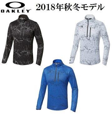 オークリー ゴルフ ウェア スカル モック シャツ【OAKLEY】SKULL SPATIAL LS MOCK【SLIM】カラー:BLACK PRINT(00G)カラー:WHITE PRINT(186)カラー:BLUE PRINT(62K)434303JPラッキーシール対応