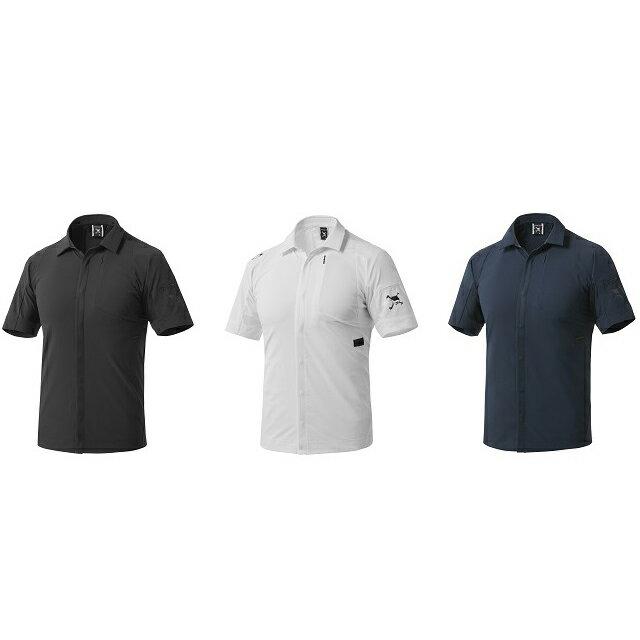メンズウェア, シャツ・ポロシャツ  OAKLEYSKULL SYNC HYBRID SHIRTSSLIMBLACKOUT(02E)WHITE (100)FATHOM(6AC)434083JP