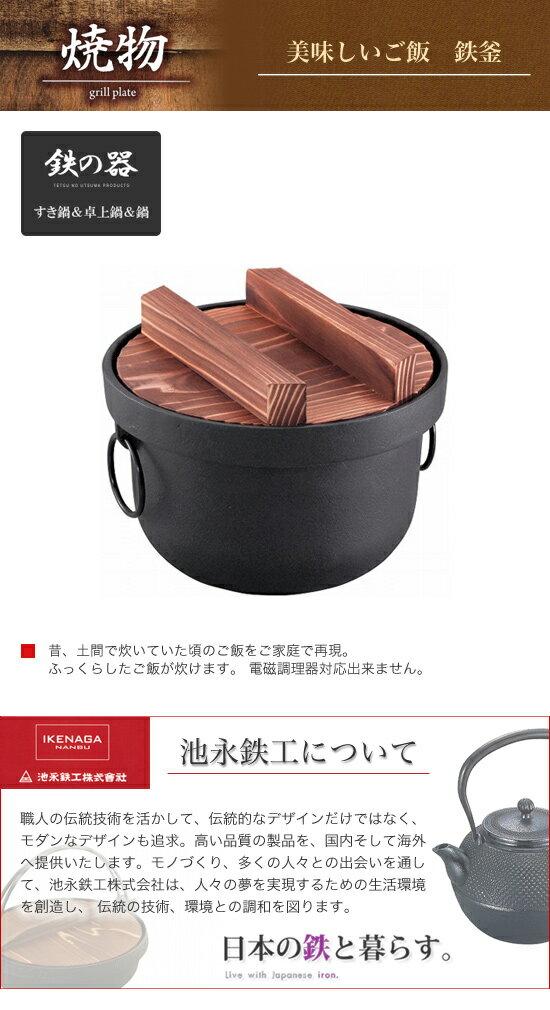 池永鉄工 美味しいご飯 鉄釜 2合用 312707