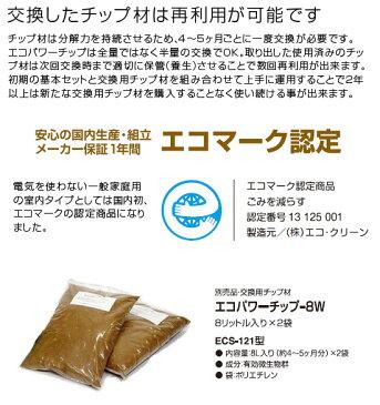 【3日間限定!エントリーでポイント10倍!】ECOCLEAN エコクリーン 「自然にカエル」シリーズ用 交換用エコパワーチップ-8W×2袋 ECS-121