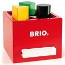 BRIO ブリオ ビルダー 形合わせボックス レッド 30148
