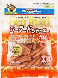 【在庫処分品】 ドギーマン  シーフードジャーキー 【たい】 (200g)【after20130610】