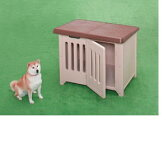 アイリス ボブハウス 950(ブラウン/ベージュ)〔中型犬 犬舎 犬小屋 ドア付き 屋外用〕  【02P18Jun16】