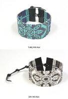CHANLUU/チャンルー/フラワーパターンカフブレスレット(メンズ)【全2色】
