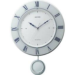 リズム時計 rhythmトライメテオ 掛け時計電波時計 振子付 クリスタル 振り子 連続秒針 静か インテリア アナログ時計 ベーシック 壁掛時計 時計 雑貨 送料無料 壁掛け クロック ウォール リビング ダイニング 居間 癒し
