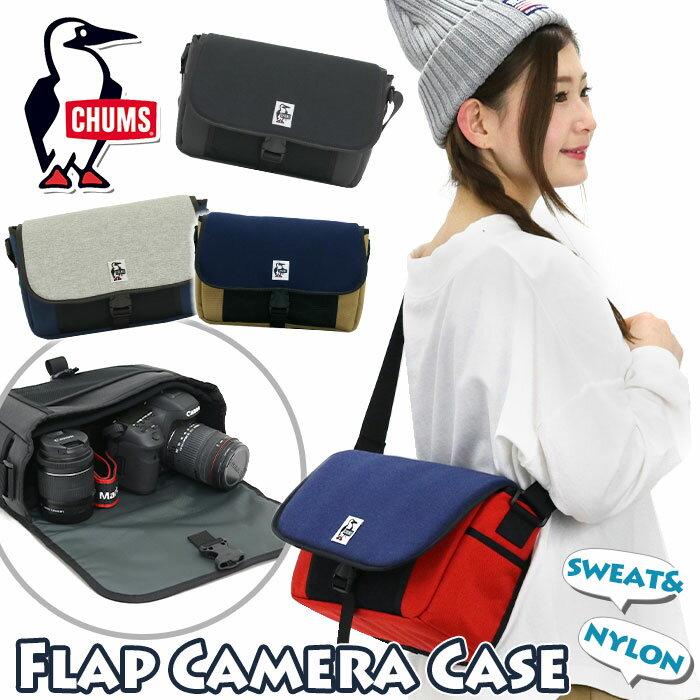 レディースバッグ, ショルダーバッグ・メッセンジャーバッグ  CHUMS SWEATNYLON Flap Camera Case Sweat Nylon CH60-2928