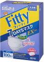 (無くなり次第終了)フィッティ 7DAYSマスクEXプラス ホワイト やや大きめサイズ 100枚入 (個別包装)