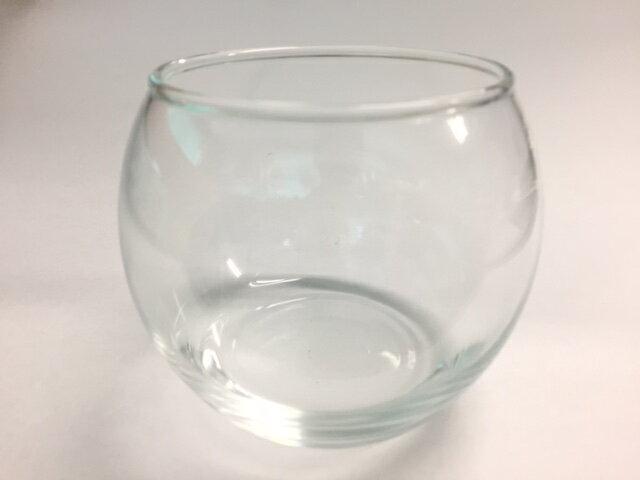キャンドルグラス バブルボール Mサイズ フィルム付 単品【ジェルキャンドル ゼリーキャンドル ガラスコップ】