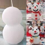 雪だるまキャンドル 単品(クリスマス キャンドル 子供会 イベント 手作り 小物 飾り)