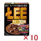【まとめ買い】【10個セット】江崎グリコ ビーフカレーLEE 辛さ×30倍 180g