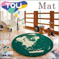 お部屋のアクセントとして子供部屋にも最適。東リ ラグ&マット ビンテージレトロ TOR3258 ...