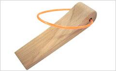 WAKI コード付き木製ドアストッパー