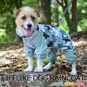 ■クーポン利用で20%OFF■ LIFELIKE 犬 レインコート カッパ 小型犬 中型犬 サイズ ...