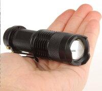 懐中電灯LED懐中電灯強力ミニハンディライトフラッシュライトCREEQ5200ルーメンズーム機能付き