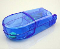 お得な3個セット!ピルケース錠剤カッターピルケース付き/薬箱/薬入れ/錠剤ケース/錠剤をホッチキスの要領でパチンと半分に割れます。