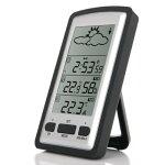 デジタル温度計ワイヤレス室内・室外LCDデジタル天気湿度/温度センサー100Mクロックイン/アウトドア