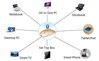 Bluetoothワイヤレスマウス長持ちUSB充電式軽量&小型無線1000/1200/1600DPIPCマウスサイレント2.4G