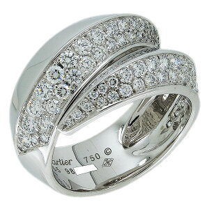 Free shipping and returns are possible ♪ Cartier Panthere Glyph Diamond Ring #55 No. 15 K18WG New Finished ♪ N4194655 White Gold [for tomorrow] [Used]