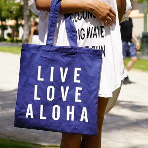 [SEVEN ISLAND] 【CTB-002HI NAVY】【CTB-006HI WHITE】【Canvas Eco Bag キャンバスエコバッグ / Live Love Aloha リブ ラブ アロハ【エコ】【エコバッグ】【アロハ】【ハワイ】【ALOHA】【HAWAII】【Instagram】【セブンアイランド】【SS0604】