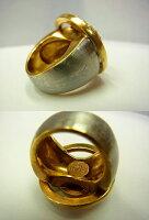 ヴェルサーチラインストーンリングメデューサ指輪0971【】VERSACE