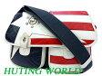 ハンティングワールド 星条旗 バチュー ショルダーバッグ0362【中古】HUTING WORLD