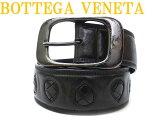 ボッテガヴェネタ イントレチャート レザーベルト メンズ 黒0251【中古】BOTTEGA VENETA