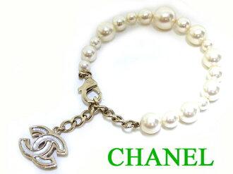 香奈爾CHANEL珍珠這裏標記呼吸小東西0989[中古]配飾