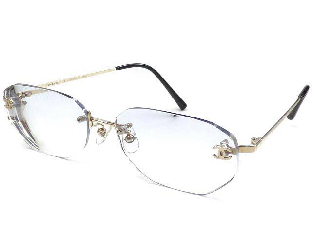 ER美品 シャネル K14WG 眼鏡 14金無垢メガネ 24.3g アイウェア【中古】0002 ホワイトゴールド メンズ レディース 男女兼用 CHANEL:LIFE TIME