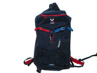 美品米勒Tribogy 25尼龍帆布背包包藍色0056MILLET TRILOGY 25