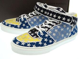 未使用的路易威登交织字母明星人运动鞋尺寸8鞋0231LOUIS VUITTON限定