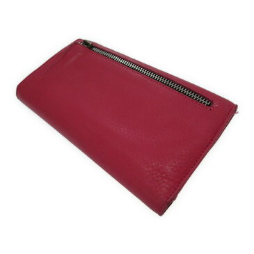 クロムハーツ 長財布 レザー ピンク WAVE ウォレット クロスボールボタン 財布 0227 【中古】 Chrome Hearts