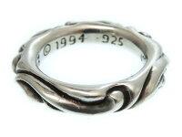 クロムハーツ スクロールバンド シルバー リング 指輪 サイズ約12号 アクセサリー 0468【】CHROME HEARTS メンズ
