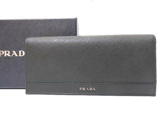 premium selection 8da99 2480a 未使用 プラダ オンライン サフィアーノレザー 2つ折り長財布 ...