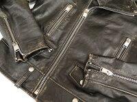 新品同様 サンローランパリ L01O モーターサイクル クラシック ヴィンテージ加工 ライダースジャケット 0108【中古】SAINT LAURENT PARIS 定価637,200円 ブラック 黒 メンズ48