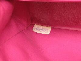 美品 シャネル ラムスキン ピンク マトラッセ ココマーク ターンロック ゴールドチェーン ショルダーバッグ バッグ 0388 【中古】 CHANEL