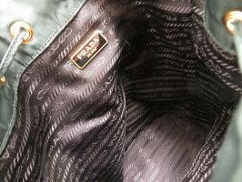 美品 プラダ ナイロン 巾着型 ショルダー バッグ 1NE864  グリーン 0078【】PRADA レディース