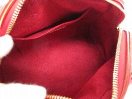 美品 ルイ ヴィトン モノグラムチェリー リザード サック ネオドーヴィル M95001 レッド ハンドバッグ LV 0224【中古】LOUIS VUITTON