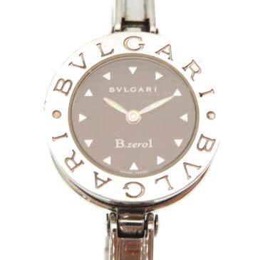 ブルガリ B-Zero1 バングルウォッチ BZ22S クオーツ 腕時計 ビーゼロワン ステンレススチール シルバー 黒文字盤 0253【中古】BVLGARI レディース