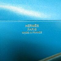 未使用 エルメス ベアンスフレ タデラクト ブルーイズミール ゴールド金具 長財布 A刻印(2017年製) 0147【中古】HERMES