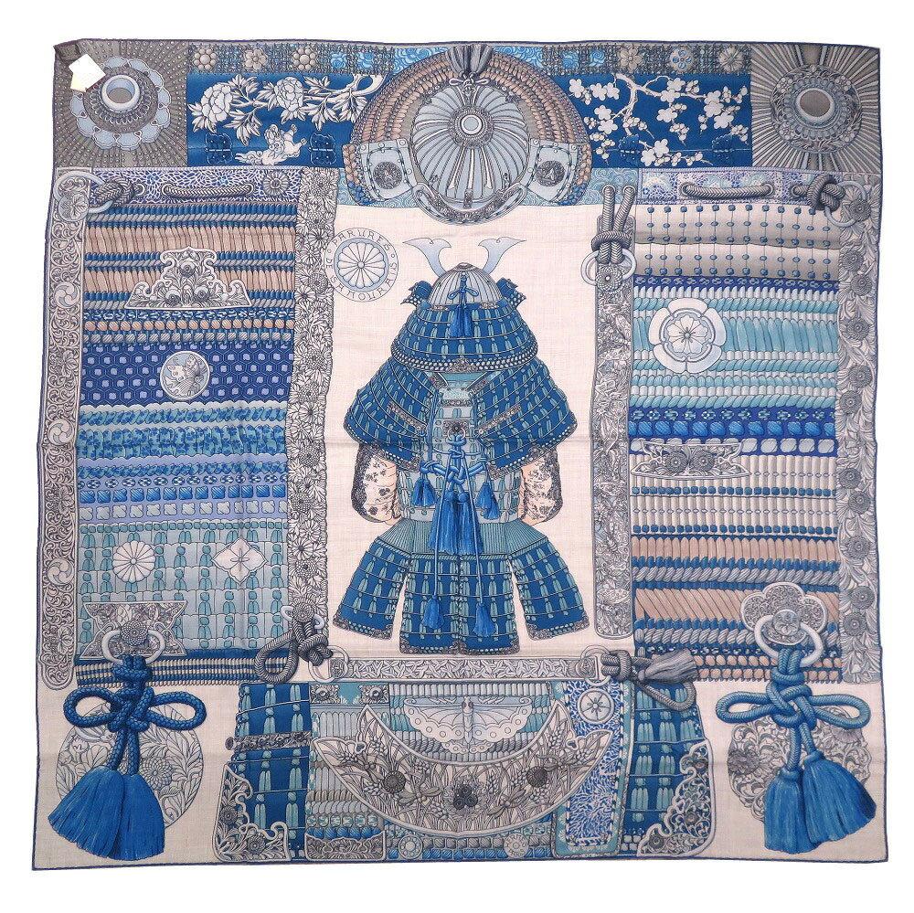 マフラー・スカーフ, レディーススカーフ  140 Parures de Samourais 0087 HERMES