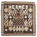 新品同様 エルメス カレ65 KELLY EN PERLES 真珠でできているケリー シルク100% ブラウン スカーフ 茶 0127 【中古】 HERMES・・・