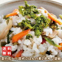 P1●菜の花入り 混ぜご飯の素 2合用 120グラム 2袋組(混ぜご飯 菜の花 きのこ )
