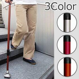 階段や傾斜面でも滑りにくい3ポイント設計。ステッキ 杖先が滑らない おしゃれ ニューサンポイ...