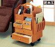匠木工 天然木 木製 テーブル まわりの 便利 ワゴン ハイタイプ キャスター付き ローテーブル