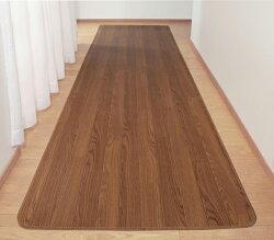 廊下マットキッチンマット木目フローリング調廊下敷60cm幅60×120cm