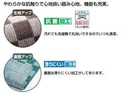 国産格子柄キッチンマット50cm幅50×270cmウォッシャブル日本製【送料無料】