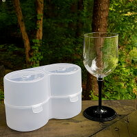 Ricceハーフサイズワイングラス2個セットペア割れないプラスチック赤ワイン白ワインシャンパンパフェグラスパーティーアウトドアキャンプピクニックギフトプレゼントペアグラスポータブル収納ケース軽量お祝い結婚祝い内祝い
