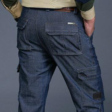 デニムパンツ メンズ デニムパンツ ストレッチジーンズメンズ ワイドパンツ ワークマン メンズ デニムパンツ ジーンズ ジーパン ジーパン 大きいサイズ カジュアル フォーマル シンプル 紳士 通勤 ゆったり