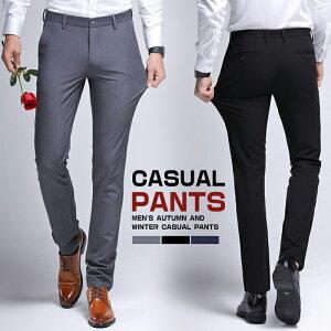 【送料無料】ノータックスラックス スーツパンツ メンズ スラックス パンツ ズボン スーツパンツ ノータック ストレッチ ロングパンツ 長ズボン テーパードパンツ ウォッシャブル イージーパンツ ボトムス 仕事着